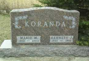 KORANDA, KENNETH - Bon Homme County, South Dakota | KENNETH KORANDA - South Dakota Gravestone Photos