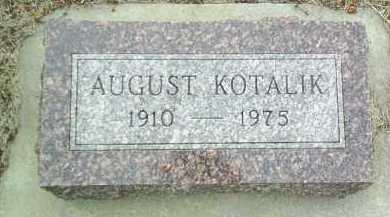 KOTALIK, AUGUST - Bon Homme County, South Dakota | AUGUST KOTALIK - South Dakota Gravestone Photos