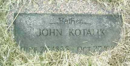 KOTALIK, JOHN - Bon Homme County, South Dakota   JOHN KOTALIK - South Dakota Gravestone Photos