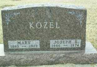 KOZEL, MARY - Bon Homme County, South Dakota | MARY KOZEL - South Dakota Gravestone Photos