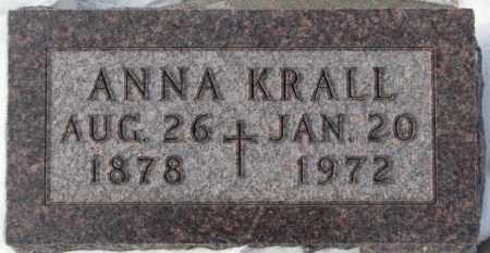 KRALL, ANNA - Bon Homme County, South Dakota | ANNA KRALL - South Dakota Gravestone Photos