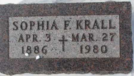 KRALL, SOPHIA F. - Bon Homme County, South Dakota   SOPHIA F. KRALL - South Dakota Gravestone Photos