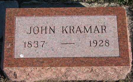KRAMAR, JOHN - Bon Homme County, South Dakota | JOHN KRAMAR - South Dakota Gravestone Photos