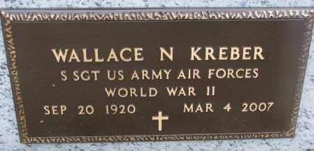 KREBER, WALLACE N. (WW II) - Bon Homme County, South Dakota   WALLACE N. (WW II) KREBER - South Dakota Gravestone Photos