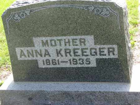 KREEGER, ANNA - Bon Homme County, South Dakota | ANNA KREEGER - South Dakota Gravestone Photos