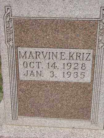KRIZ, MARVIN E. - Bon Homme County, South Dakota | MARVIN E. KRIZ - South Dakota Gravestone Photos