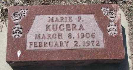 KUCERA, MARIE F. - Bon Homme County, South Dakota | MARIE F. KUCERA - South Dakota Gravestone Photos