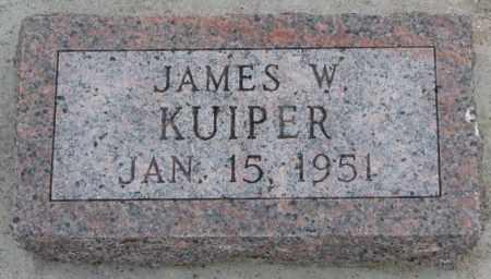 KUIPER, JAMES W. - Bon Homme County, South Dakota   JAMES W. KUIPER - South Dakota Gravestone Photos