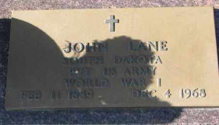 LANE, JOHN (WW I) - Bon Homme County, South Dakota   JOHN (WW I) LANE - South Dakota Gravestone Photos