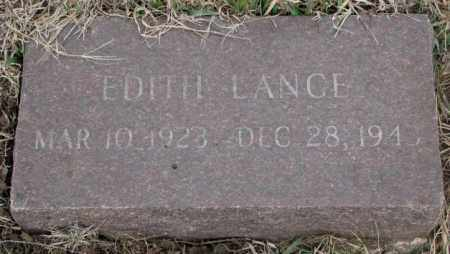LANGE, EDITH - Bon Homme County, South Dakota | EDITH LANGE - South Dakota Gravestone Photos