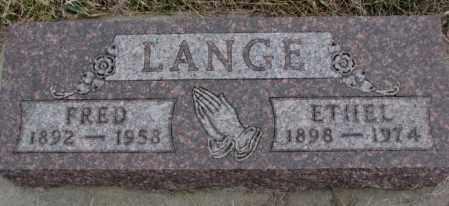 LANGE, FRED - Bon Homme County, South Dakota | FRED LANGE - South Dakota Gravestone Photos