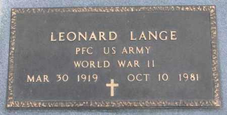 LANGE, LEONARD (WW II) - Bon Homme County, South Dakota | LEONARD (WW II) LANGE - South Dakota Gravestone Photos