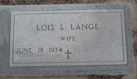 LANGE, LOIS L. - Bon Homme County, South Dakota | LOIS L. LANGE - South Dakota Gravestone Photos