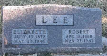 LEE, ROBERT - Bon Homme County, South Dakota   ROBERT LEE - South Dakota Gravestone Photos
