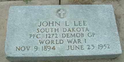 LEE, JOHN L. - Bon Homme County, South Dakota | JOHN L. LEE - South Dakota Gravestone Photos