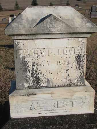 LOVE, MARY E. - Bon Homme County, South Dakota   MARY E. LOVE - South Dakota Gravestone Photos