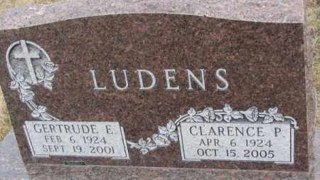 LUDENS, CLARENCE P. - Bon Homme County, South Dakota | CLARENCE P. LUDENS - South Dakota Gravestone Photos