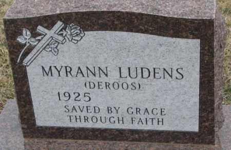 DEROOS LUDENS, MYRANN - Bon Homme County, South Dakota | MYRANN DEROOS LUDENS - South Dakota Gravestone Photos