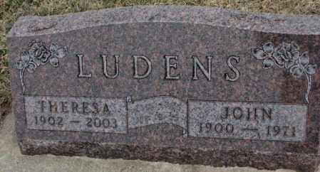 LUDENS, THERESA - Bon Homme County, South Dakota | THERESA LUDENS - South Dakota Gravestone Photos