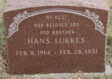 LUKKES, HANS - Bon Homme County, South Dakota | HANS LUKKES - South Dakota Gravestone Photos
