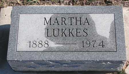 LUKKES, MARTHA - Bon Homme County, South Dakota   MARTHA LUKKES - South Dakota Gravestone Photos