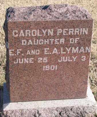LYMAN, CAROLYN PERRIN - Bon Homme County, South Dakota | CAROLYN PERRIN LYMAN - South Dakota Gravestone Photos