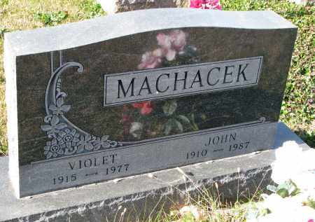 MACHACEK, VIOLET - Bon Homme County, South Dakota | VIOLET MACHACEK - South Dakota Gravestone Photos