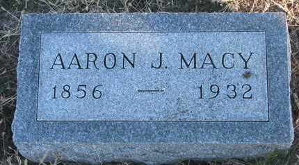 MACY, AARON J. - Bon Homme County, South Dakota | AARON J. MACY - South Dakota Gravestone Photos