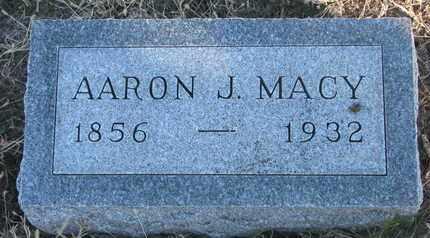 MACY, AARON J. - Bon Homme County, South Dakota   AARON J. MACY - South Dakota Gravestone Photos