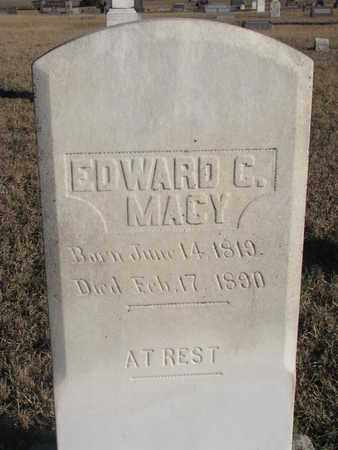 MACY, EDWARD C. - Bon Homme County, South Dakota | EDWARD C. MACY - South Dakota Gravestone Photos