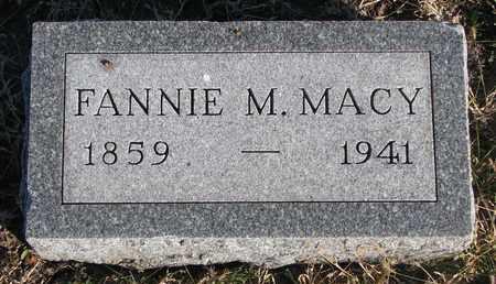 MACY, FANNIE M. - Bon Homme County, South Dakota | FANNIE M. MACY - South Dakota Gravestone Photos