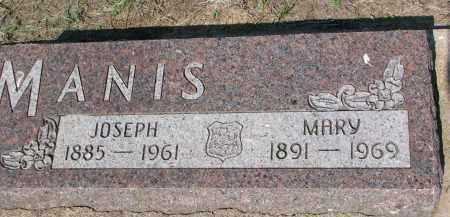 MANIS, JOSEPH - Bon Homme County, South Dakota | JOSEPH MANIS - South Dakota Gravestone Photos