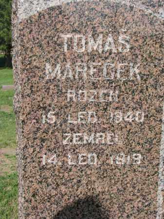 MARECEK, TOMAS (CLOSEUP) - Bon Homme County, South Dakota | TOMAS (CLOSEUP) MARECEK - South Dakota Gravestone Photos