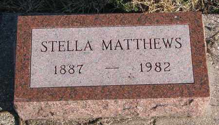 MATTHEWS, STELLA - Bon Homme County, South Dakota | STELLA MATTHEWS - South Dakota Gravestone Photos