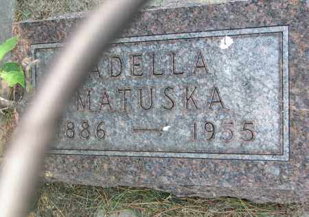 MATUSKA, ADELLA - Bon Homme County, South Dakota | ADELLA MATUSKA - South Dakota Gravestone Photos