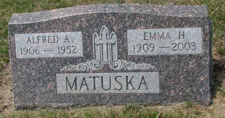 MATUSKA, ALFRED A. - Bon Homme County, South Dakota | ALFRED A. MATUSKA - South Dakota Gravestone Photos