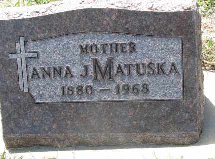 MATUSKA, ANNA J. - Bon Homme County, South Dakota | ANNA J. MATUSKA - South Dakota Gravestone Photos