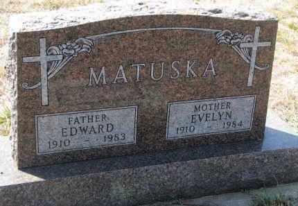 MATUSKA, EDWARD - Bon Homme County, South Dakota | EDWARD MATUSKA - South Dakota Gravestone Photos