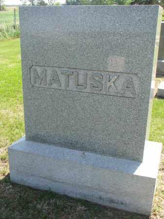 MATUSKA, FAMILY STONE - Bon Homme County, South Dakota | FAMILY STONE MATUSKA - South Dakota Gravestone Photos