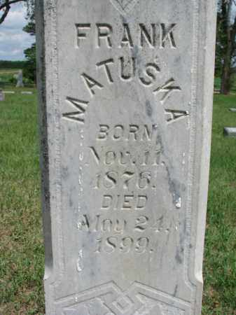 MATUSKA, FRANK (CLOSEUP) - Bon Homme County, South Dakota   FRANK (CLOSEUP) MATUSKA - South Dakota Gravestone Photos