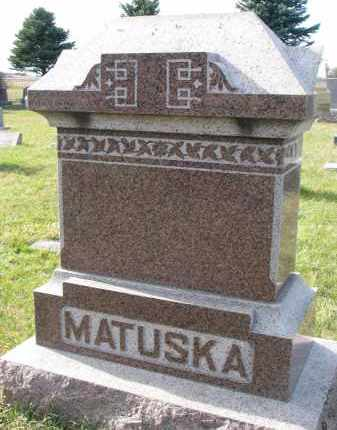MATUSKA, FAMILY STONE - Bon Homme County, South Dakota | FAMILY STONE MATUSKA - South Dakota Gravestone Photos