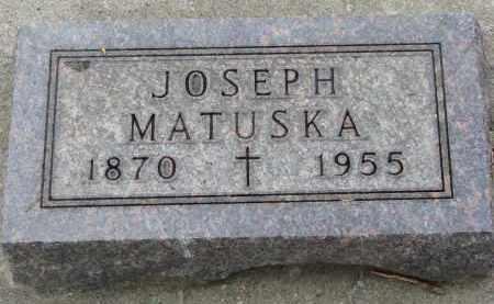 MATUSKA, JOSEPH - Bon Homme County, South Dakota | JOSEPH MATUSKA - South Dakota Gravestone Photos