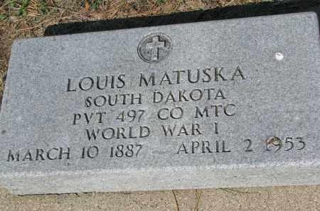 MATUSKA, LOUIS - Bon Homme County, South Dakota   LOUIS MATUSKA - South Dakota Gravestone Photos