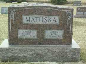 MATUSKA, ROSE - Bon Homme County, South Dakota | ROSE MATUSKA - South Dakota Gravestone Photos