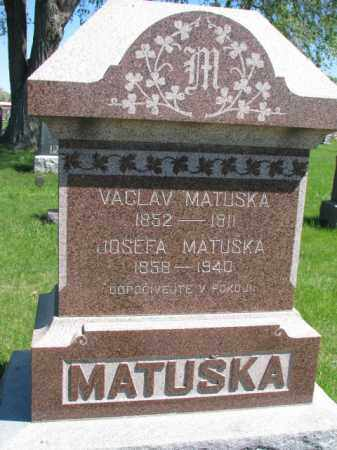 MATUSKA, VACLAV - Bon Homme County, South Dakota | VACLAV MATUSKA - South Dakota Gravestone Photos