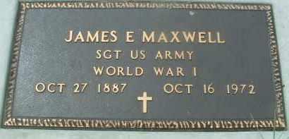 MAXWELL, JAMES E. - Bon Homme County, South Dakota | JAMES E. MAXWELL - South Dakota Gravestone Photos
