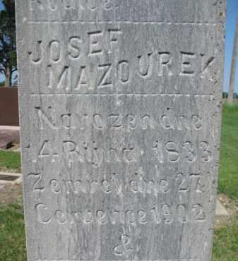 MAZOUREK, JOSEF (CLOSEUP) - Bon Homme County, South Dakota | JOSEF (CLOSEUP) MAZOUREK - South Dakota Gravestone Photos