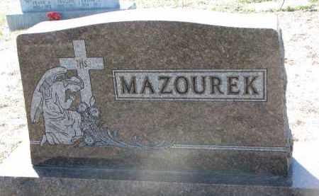 MAZOUREK, PLOT STONE - Bon Homme County, South Dakota | PLOT STONE MAZOUREK - South Dakota Gravestone Photos