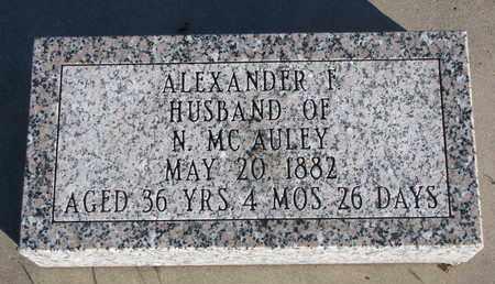 MCAULEY, ALEXANDER I. - Bon Homme County, South Dakota | ALEXANDER I. MCAULEY - South Dakota Gravestone Photos