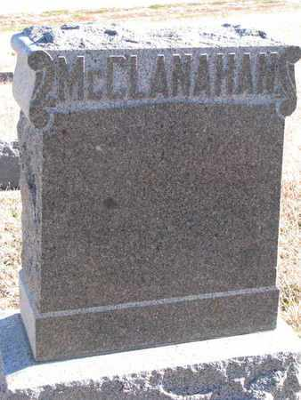 MCCLANAHAN, FAMILY STONE - Bon Homme County, South Dakota | FAMILY STONE MCCLANAHAN - South Dakota Gravestone Photos